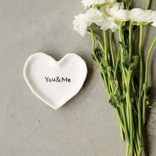 "Load image into Gallery viewer, ""You & Me"" Ceramic Heart Dish"