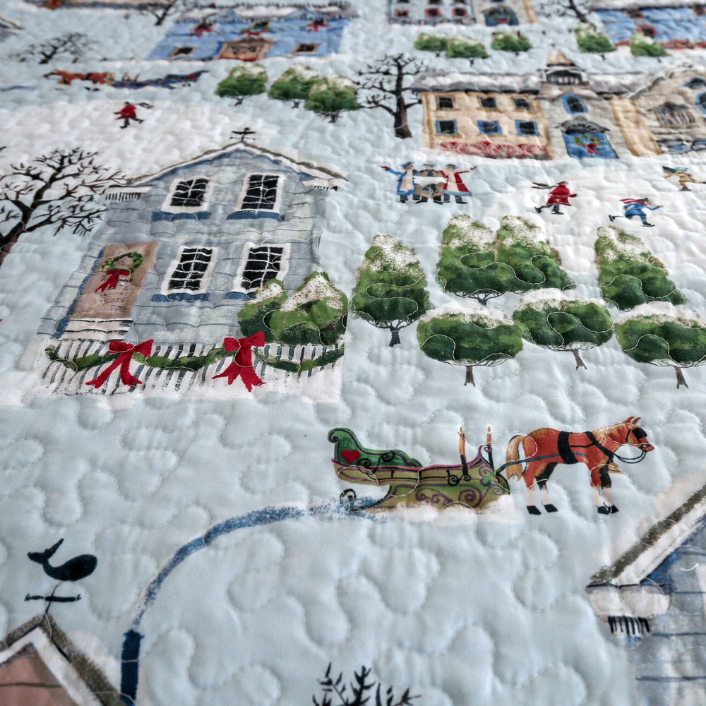 Holiday Village Seasonal Quilt Set