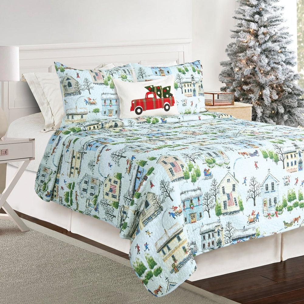 Holiday Village Seasonal Quilt