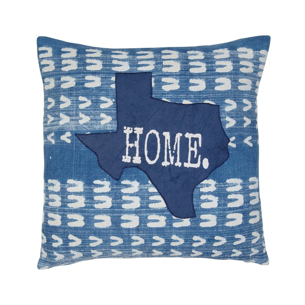 Indigo Texas Home Pillow Cover