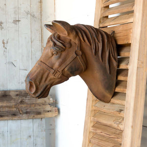 Estate Stone Wall Mount Horse Head