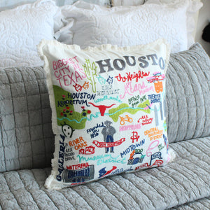 Houston City Pillow Cover