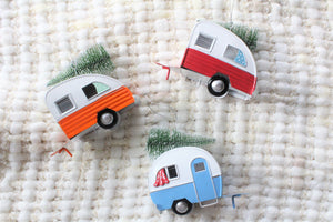 Wagon With Tree Ornaments