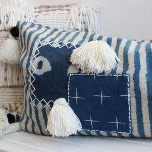 Daire Cotton Mud Cloth Pillow Cover