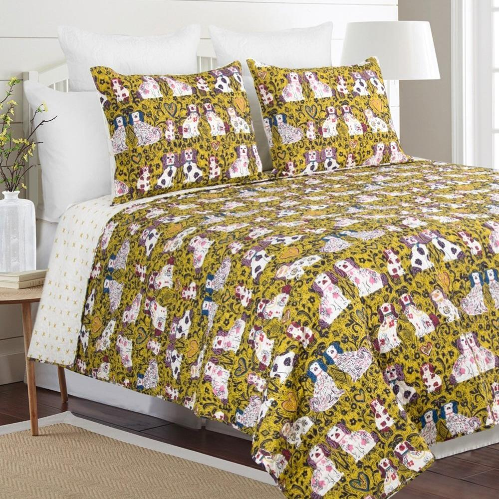 King Charles 100% Cotton Quilt Set