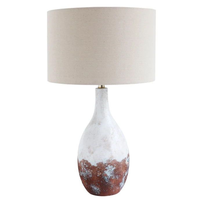 Ceramic Table Lamp with Linen Shade