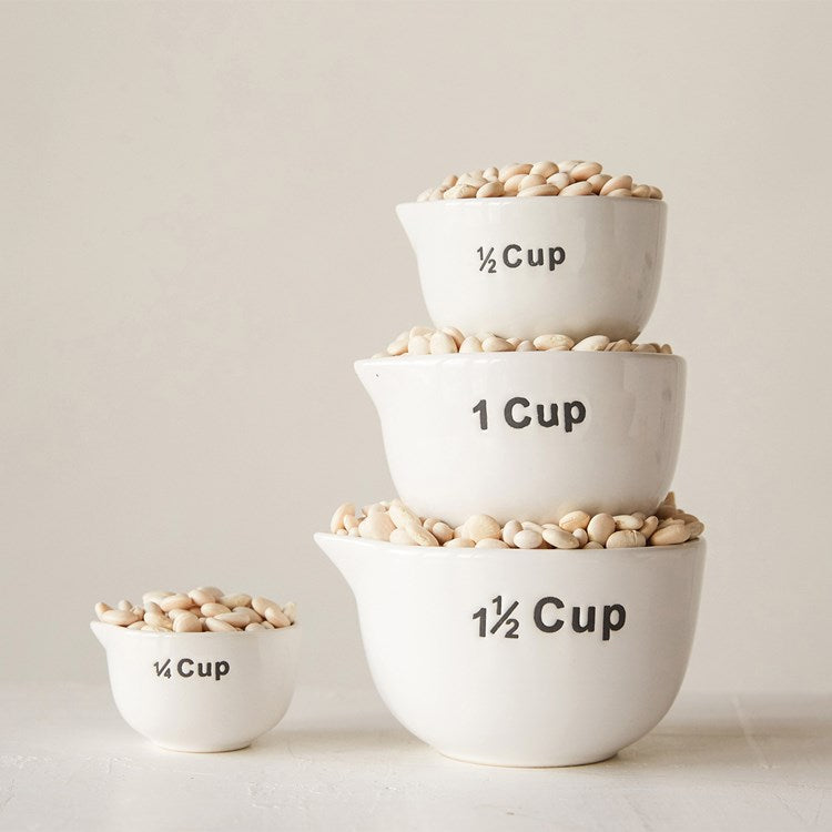 Stoneware Measuring Cups, Set of 4