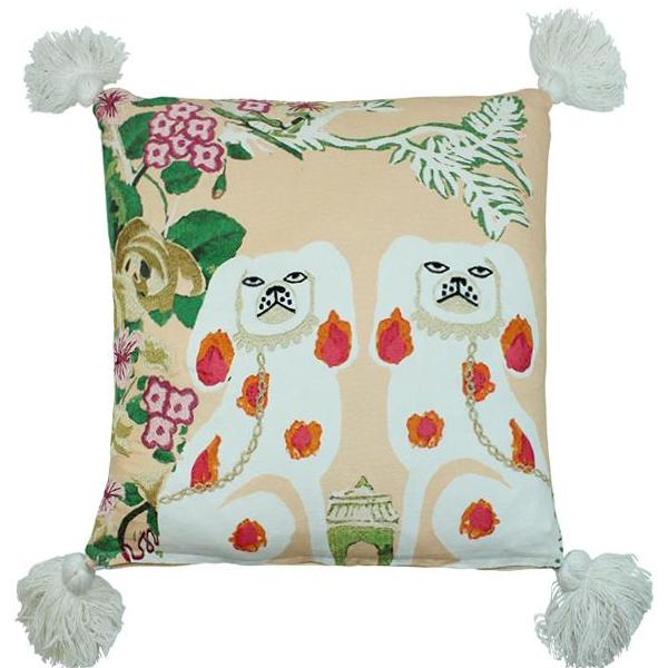 Mirrored Dog Pillow Cover