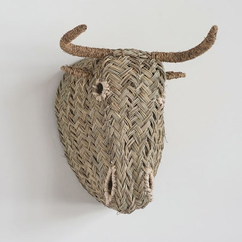 Hand-Woven Moroccan Cow Head