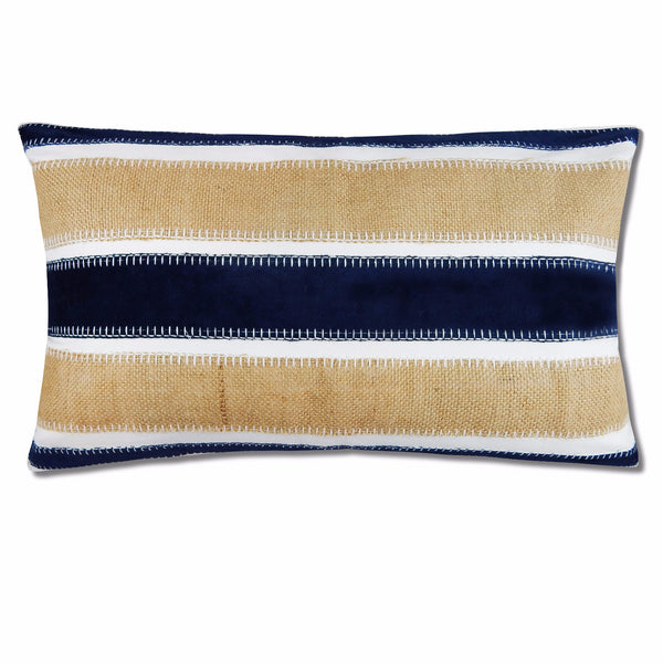 Lee Textured Pillow Cover in Navy Burlap 14
