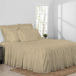 Oma Linen Cotton Bedspread Set in farmhouse room scene
