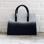 Ombre White and Black Tote