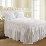 Lauren Ultra-Soft Crinkle Quilt Set in room with rug