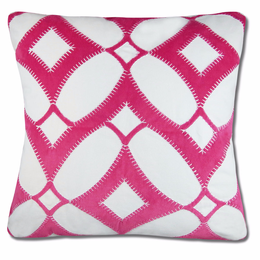 Claire Pillow Cover in Fuchsia, 20