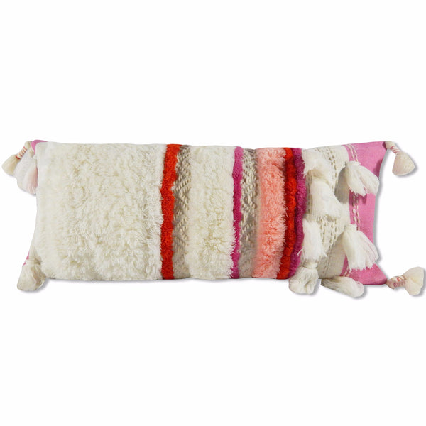 Ilia Pillow Cover Ivory/Pink