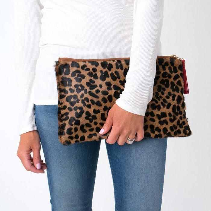 Parker and Hyde: Victoria Clutch- Leopard