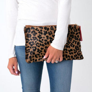 Parker and Hyde Victoria Clutch-Leopard