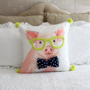 Bright Pig Pillow Cover