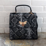 Snake Black (Medium) Purse