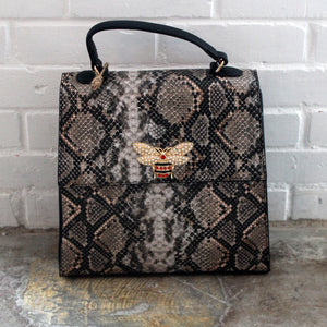Snake Taupe (Medium) Purse