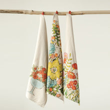 Load image into Gallery viewer, Cotton Tea Towels with Flowers, 3 Styles