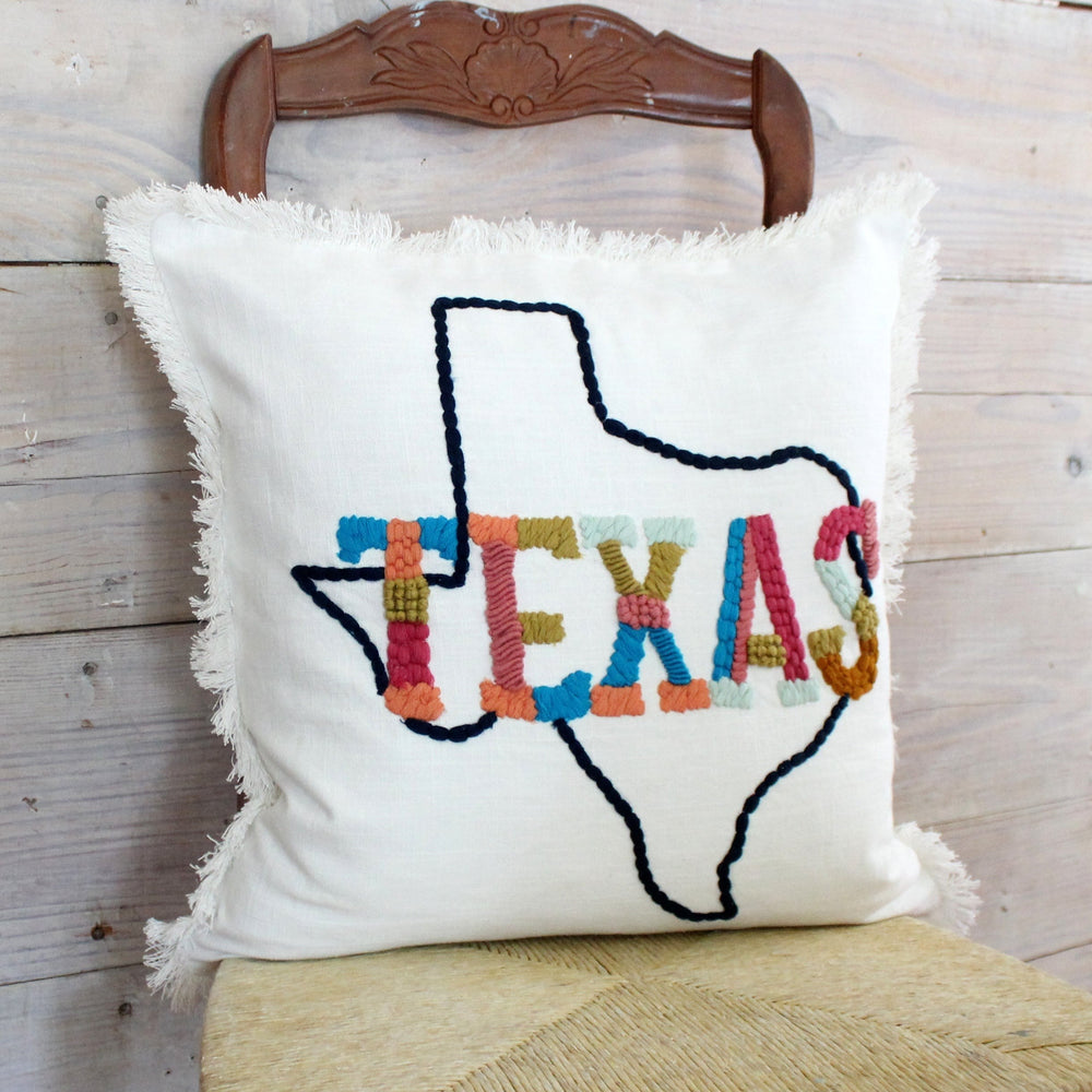 Texas on the Map Pillow Cover