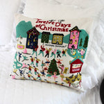 The Twelve Days of Christmas Pillow Cover