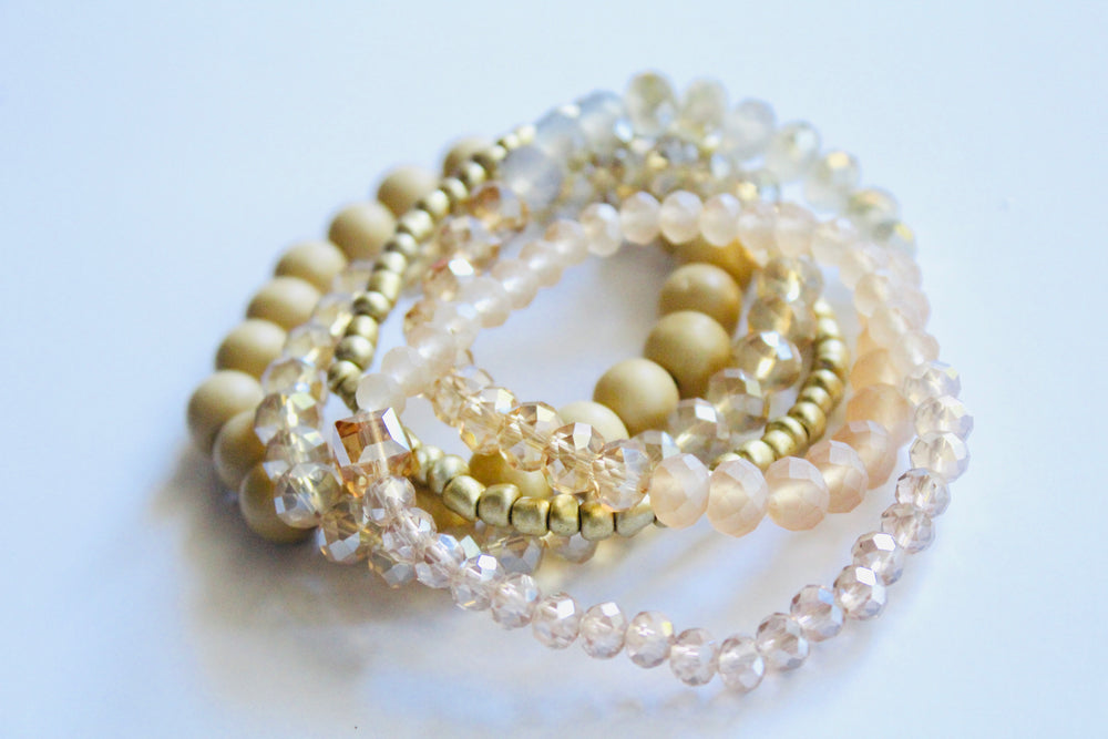 Beaded Bracelet Set of 5