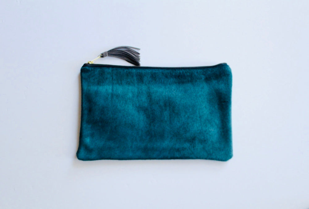 Parker and Hyde Toni Clutch-Teal