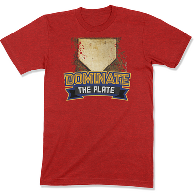 Dominate The Plate with Home Plate Men's T-Shirt
