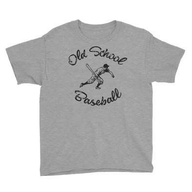 Old School Baseball Vintage Themed Youth Short Sleeve T-Shirt