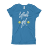 Softball Girl Fast-Pitch Themed Girl's T-Shirt