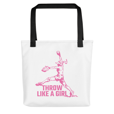 Throw Like A Girl Tote bag