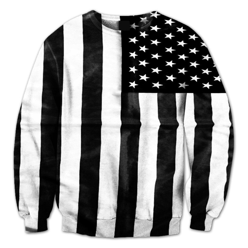 Black & White Flag Crewneck