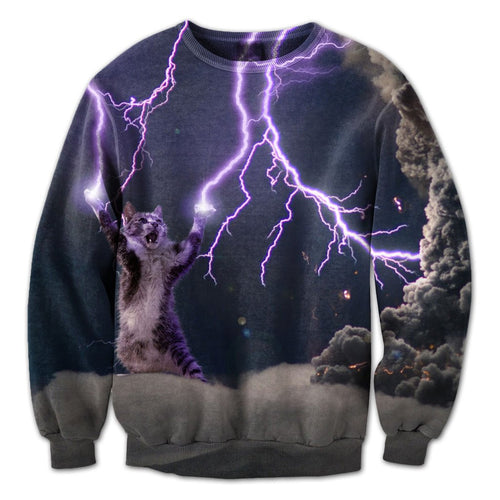 Lighting Cats Crewneck
