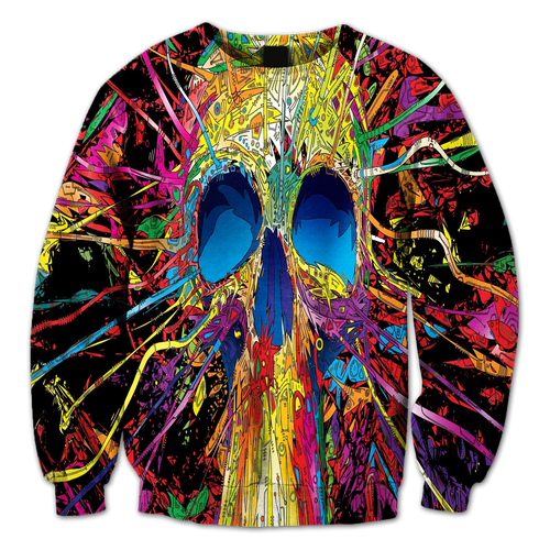 Abstract Skull Crewneck