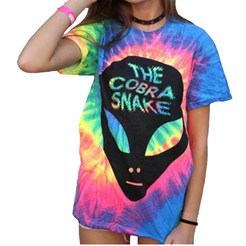 Hand Tie Dyed Cobra Snake T Shirt