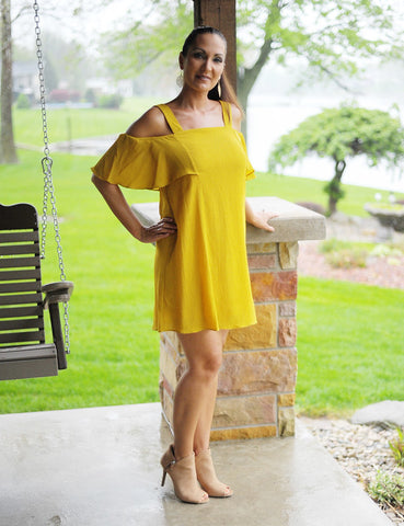 Mellow Yellow Dress - Mustard