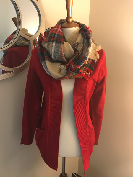 Plaid Infinity Scarfs-multi
