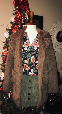 Teddy Jacket-Brown