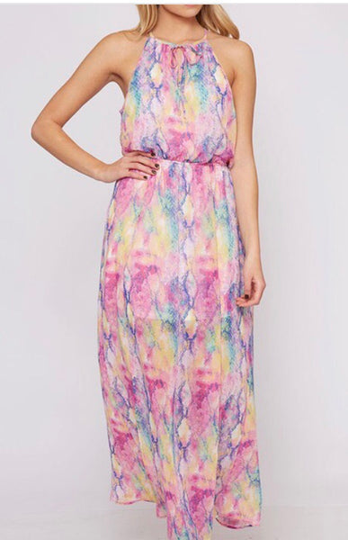 Rainbow Maxi Dress-Multi