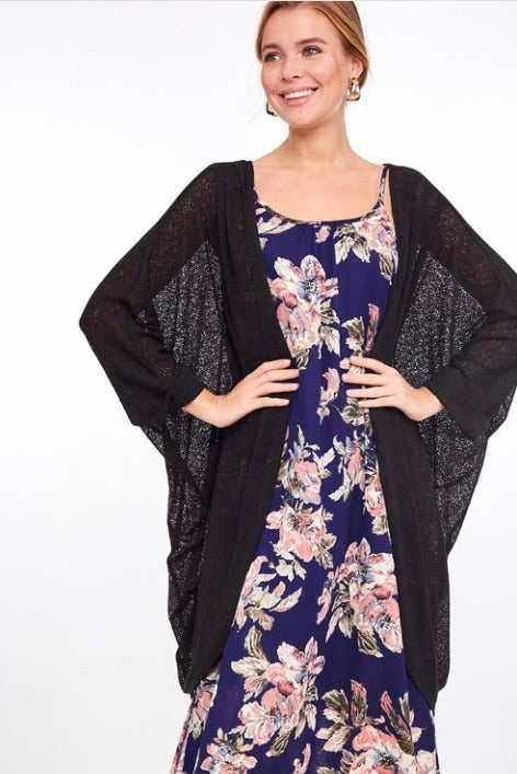 Lightweight Cardigan-Black