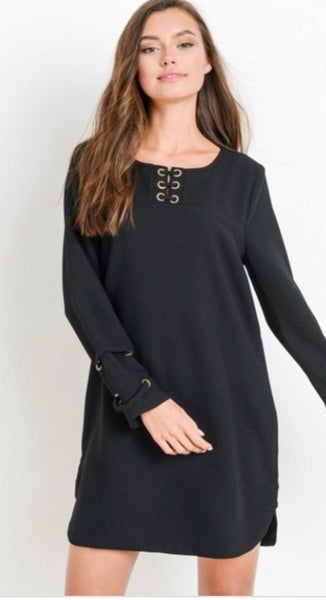 Solid Dress-Black
