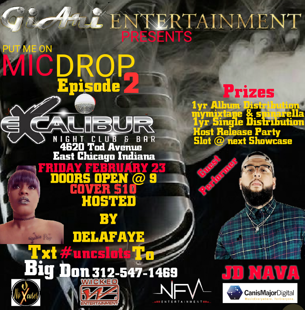 NFV Entertainment at GiAri Entertainment's OPEN MIC 2 w J.D. NAVA LIVE on Stage!