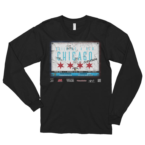 """Building A New Chicago Showcase Lineup"" Long sleeve t-shirt (unisex)"
