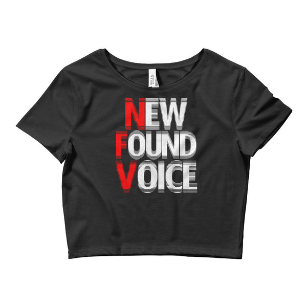 """NEW FOUND VOICE"" Women's Crop Tee"