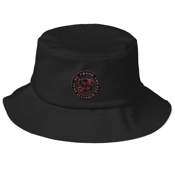 SEAL OF CROOK COUNTY ILLINOIS  nD.esign Collab Old School Bucket Hat