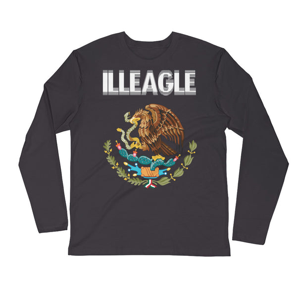 """ILLEAGLE"" Long Sleeve Fitted Crew"