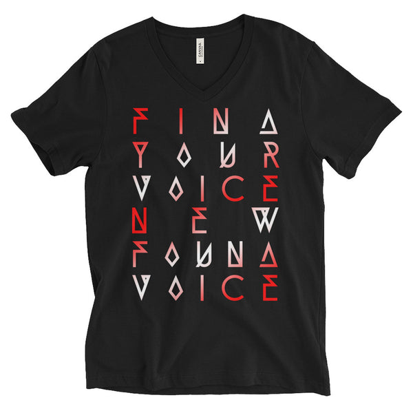"""FYVNFV"" Unisex Short Sleeve V-Neck T-Shirt"
