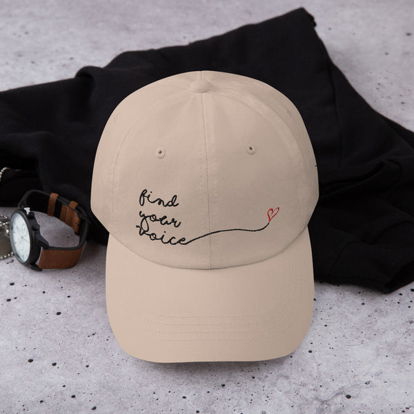 FIND YOUR VOICE Dad hat